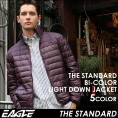 【送料無料】 EAGLE THE STANDARD ダウンジャケット メンズ 軽量 [日本規格] (eagle-40004) イーグル ライトダウンジャケット バイカラー
