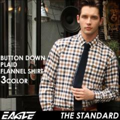 【送料無料】 EAGLE THE STANDARD イーグル シャツ ブランド ネルシャツ チェック メンズ [日本規格] (チェックシャツ ネルシャツ 厚手