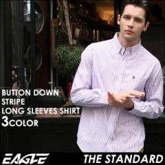 【送料無料】 EAGLE THE STANDARD イーグル シャツ ブランド 長袖シャツ メンズ ストライプ シャツ [日本規格] (eagle-89025) ストライプ