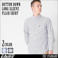 【送料無料】 チェックシャツ メンズ 長袖 ボタンダウン EAGLE THE STANDARD [チェックシャツ 長袖 メンズ ボタンダウンシャツ 長袖 シャ