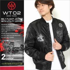 wt02 ma-1 フライトジャケット ma1 ジャケット メンズ ma-1 ワッペン ma1 ジャケット メンズ 中綿ジャケット