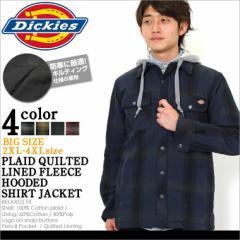 ディッキーズ Dickies ジャケット メンズ 大きいサイズ アウター ブルゾン 防寒 シャツジャケット キルティング フランネル ジャケット