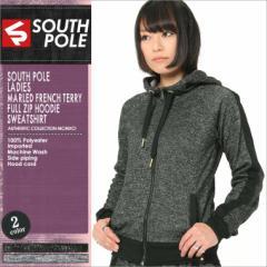 SOUTH POLE サウスポール レディース パーカー ジップアップ スウェット ストリート ジップアップパーカー XL (15323-1512)
