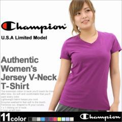 チャンピオン Vネック Tシャツ 半袖 無地 レディース 大きいサイズ USAモデル ブランド 半袖Tシャツ アメカジ ロゴ おしゃれ カジュア
