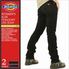 ディッキーズガール パンツ デニム スリム ストレート レディース FD135|USAモデル Dickies Girl|ディッキーズ ジーンズ ブラックデニ
