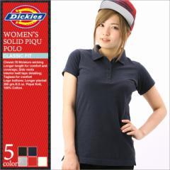 Dickies ディッキーズ ポロシャツ レディース (dickies fs023) [ディッキーズ Dickies ポロシャツ レディース 半袖 鹿の子 ポロシャツ 白