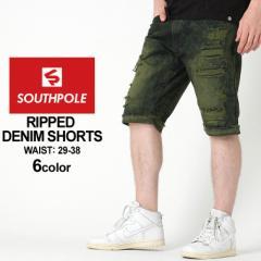 SOUTH POLE サウスポール ハーフパンツ メンズ 大きいサイズ ジーンズ ダメージ ハーフパンツ メンズ デニム ショートパンツ