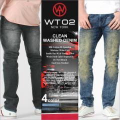 wt02 ジーンズ メンズ 夏 デニム メンズ ジーンズ ジーンズ メンズ ストレート オーバーダイ ウォッシュ 父の日 ギフト ファッション