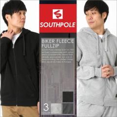 SOUTH POLE サウスポール パーカー メンズ 裏起毛 大きいサイズ メンズ パーカー ジップアップパーカー バイカーファッション
