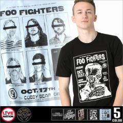 フー・ファイターズ Tシャツ 半袖 メンズ プリント 大きいサイズ USAモデル foo fighters LIVE NATION ライブネーション 半袖Tシャツ バ