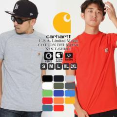 カーハート Tシャツ 半袖 ポケット ラグラン メンズ 5.75oz 大きいサイズ 100410 USAモデル│ブランド Carhartt|半袖Tシャツ アメカジ