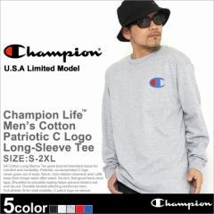 Champion チャンピオン tシャツ 長袖 メンズ チャンピオン ビッグロゴ ロンt (gt78h-y06591) ロンt メンズ ブランド tシャツ 長袖 メンズ