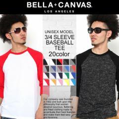 【BELLA + CANVAS LOS ANGELES】 ベラキャンバス ロサンゼルス 7分袖 tシャツ メンズ レディース [ユニセックス] (bellacanvas-3200) 7