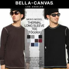 【BELLA + CANVAS LOS ANGELES】 ベラキャンバス ロサンゼルス ロンt メンズ 無地 サーマル ロンt 大きいサイズ (bellacanvas-3500) サ