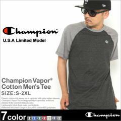 チャンピオン Tシャツ ラグラン 半袖 メンズ 大きいサイズ USAモデル|ブランド 半袖Tシャツ ロゴ アメカジ|Champion