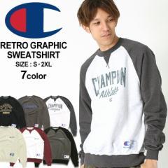 チャンピオン トレーナー ラグラン メンズ 大きいサイズ リバースウィーブ USAモデル|ブランド カレッジ ロゴ アメカジ 裏起毛 |Champi
