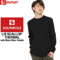 アウトレット 返品・交換・キャンセル不可|サウスポール ロンT Uネック サーマル メンズ 大きいサイズ ブランド SOUTH POLE 長袖Tシャツ