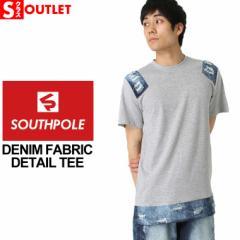 アウトレットセール 返品・交換・キャンセルは不可 │ サウスポール (SOUTH POLE) tシャツ メンズ 半袖 ロング丈 tシャツ メンズ [SOUTH