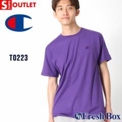 アウトレット 返品・交換・キャンセル不可|チャンピオン Tシャツ 半袖 クルーネック メンズ レディース 大きいサイズ T0223 ブランド ア