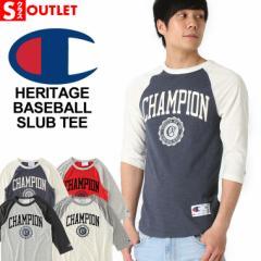 アウトレット 返品・交換・キャンセルは不可 │ Champion チャンピオン 7分袖 メンズ チャンピオン 7分袖 tシャツ メンズ ラグラン