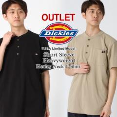【アウトレット】返品・交換・キャンセル不可 Dickies ディッキーズ Tシャツ メンズ 半袖 大きいサイズ ヘンリーネック 半袖tシャツ