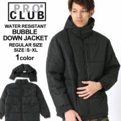 [送料299円] PRO CLUB プロクラブ ジャケット メンズ 秋冬 大きいサイズ メンズ 中綿ジャケット メンズ 黒 ブラック S-XL
