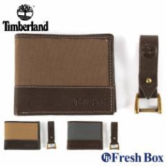 ティンバーランド 二つ折り財布 キーホルダー 2点セット 箱付き 小銭入れなし メンズ NP0379 USAモデル ブランド Timberland 財布 二つ折
