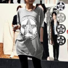 夏新作 Tシャツ レディース 半袖 ロゴ 大きいサイズ プリント カットソー トップス (sh-277)(メール便送料無料)