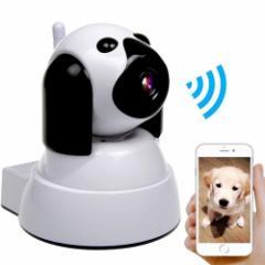 ネットワークカメラ かわいいデザイン ペットのお留守番も安心 約200万画素 720P 日本語説明書付き Camera001