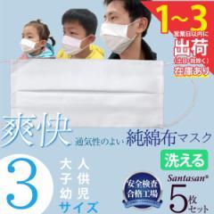 マスク 5枚セット 夏用 綿マスク プリーツ 涼しい 洗える 夏 夏用マスク 子供用 大人用 男女兼用白マスク 綿100% コットン 布マスク 洗
