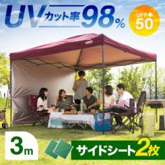 タープテント 3m 300 送料無料 タープ テント テントタープ サイドシート 軽量 uvカット uv加工 紫外線 紫外線防止 防水 耐水 スチール製