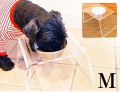 OFT(オーエフティー) クリアディッシュスタンド M 【犬用食器台/食器台・テーブル/フードボウルスタンド】【送料無料】