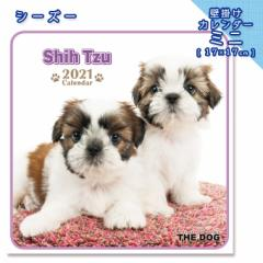 2021年 THE DOG カレンダー【ミニ】 シーズー ■ 壁掛けカレンダー 写真 ポスター ザドッグ  月特