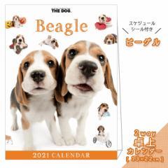 2021年 THE DOG カレンダー【卓上】 ビーグル ■ 縦型タイプ 写真 ポスター ザドッグ  月特