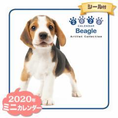 ミニ カレンダー 2020年 ビーグル ■ CALENDAR カレンダ— カレンダ ポスター 壁掛け ブックレット 犬 ドッグ ドック