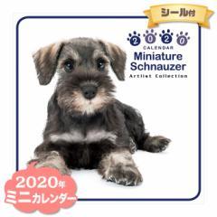 ミニ カレンダー 2020年 ミニチュアシュナウザー ■ CALENDAR カレンダ— カレンダ ポスター 壁掛け ブックレット 犬 ドッグ ドック