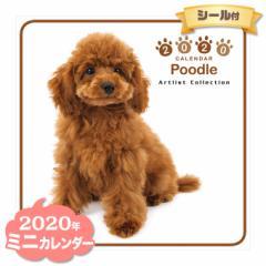 ミニ カレンダー 2020年 プードル ■ CALENDAR カレンダ— カレンダ ポスター 壁掛け ブックレット 犬 ドッグ ドック