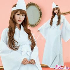 幽霊 ハロウィン コスプレ お化け ゴースト 着物 白装束 ゾンビ コスプレ衣装 衣装 セクシー コスチューム 仮装 女性 大人 ペア 団体
