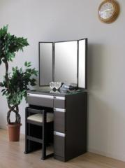 ドレッサー&チェア 3面鏡 幅60cm ダークブラウン JORNO 60 DRESSER 3 MENKYO DBR ise-3317331s1  /NP 後払い/北欧/インテリア/セール/モ