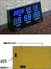 LEDカレンダークロック RC co-a05963  /NP 後払い/北欧/インテリア/セール/モダン/送料無料/激安/  掛け時計/掛け時計/おしゃれ/北欧/木