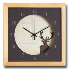 北欧テイスト インテリアクロック 時計 VerdureClock Reindeer NA ナチュラル DC-3002 kar-4020147s1  /NP 後払い/北欧/インテリア/セー