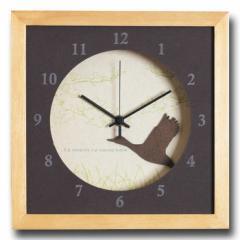 北欧テイスト インテリアクロック 時計 VerdureClock Swan NA ナチュラル DC-3006 kar-4020151s1  /NP 後払い/北欧/インテリア/セール/モ