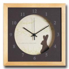 北欧テイスト インテリアクロック 時計 VerdureClock Rabbit NA ナチュラル DC-3010 kar-4020155s1  /NP 後払い/北欧/インテリア/セール/