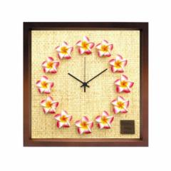 プルメリア 文字盤 掛け時計 FrangiPani Clock2 プルメリア ピンク ブラウン FP-1011 kar-4534130s5  /NP 後払い/北欧/インテリア/セール