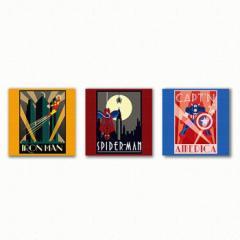 マーベル ファブリックパネル 3枚セット アートパネル MARVEL Marvel Heroes Mサイズ 30cm×30cm lib-3909173s1  /NP 後払い/北欧/インテ