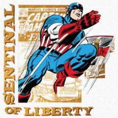 キャプテンアメリカ インテリアパネル アートパネル MARVEL Captain America Mサイズ 30cm×30cm lib-4121928s1  /NP 後払い/北欧/インテ