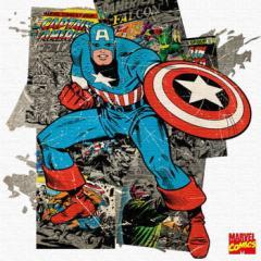 キャプテンアメリカ インテリアパネル アートパネル MARVEL Captain America Mサイズ 30cm×30cm lib-4121929s1  /NP 後払い/北欧/インテ