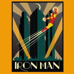 アイアンマン アートパネル MARVEL Iron Man Mサイズ 30cm×30cm lib-4121936s1  /NP 後払い/北欧/インテリア/セール/モダン/送料無料/激