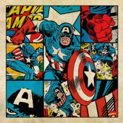 キャプテンアメリカ アートパネル MARVEL Captain America Mサイズ 30cm×30cm lib-4121937s1  /NP 後払い/北欧/インテリア/セール/モダ