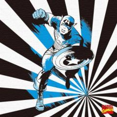キャプテンアメリカ キャンバスアート アートパネル MARVEL Captain America Mサイズ 30cm×30cm lib-4121951s1  /NP 後払い/北欧/インテ